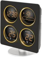 Vezeték nélküli időjárásjelző állomás, rádiójel vezérelt órával, Techno Line WS 6830 Techno Line