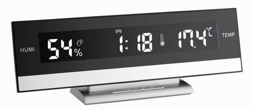 Digitális asztali ébresztőóra pára- és hőmérővel, 240x90x50 mm, TFA 60.2011