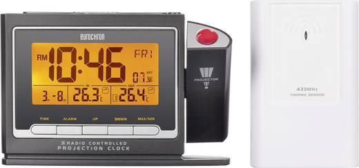 Kivetítős óra (projektoros) külső hőmérővel, rádiójel vezérlésű, Eurochron EFP 3900