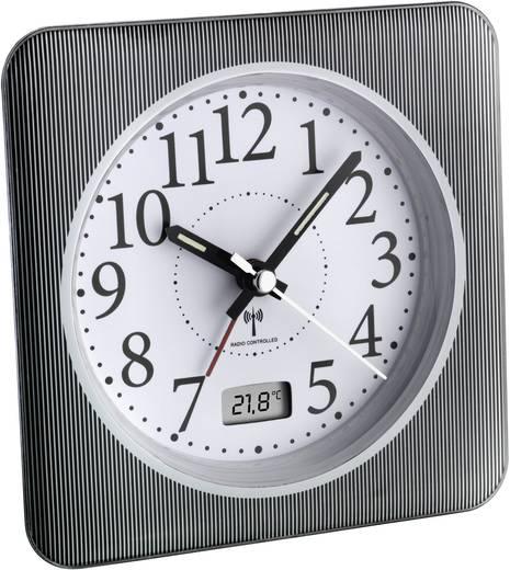 Analóg rádiójel vezérelt ébresztőóra hőmérséklet kijelzéssel, 120 x 120 x 51 mm, TFA 60.1502.10