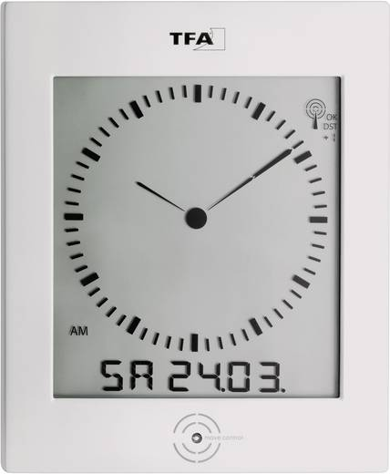 Analóg/digitális rádiójel vezérelt falióra pára- és hőmérővel, 220 x 265 x 31 mm, TFA 60.4506