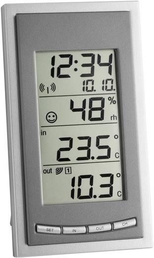 Rádiójel vezérelt DCF óra, külső/belső hőmérséklet és páratartalom mérő TFA DIVA GO 30.3018.10