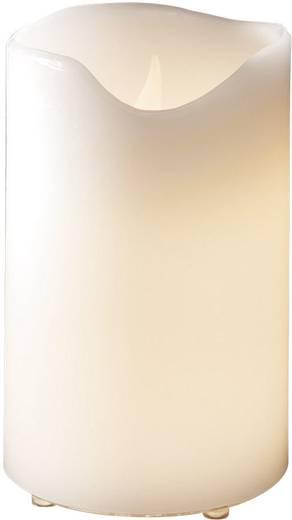 LED-es valódi viaszgyertya, 12,5 x 20 cm, melegfehér, Konstsmide 1951-100