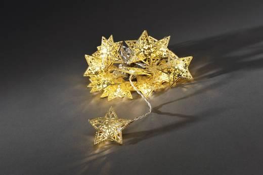 Beltéri motívumos, LED-es fényfüzér, csillagok, 600 cm, 16 melegfehér LED, Konstsmide 3171-803