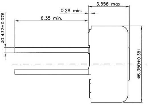 Cermet trimmer potméter, TT Electronics AB 460 2046003600 25 kΩ, felül állítható, 0,5 W ± 10 %