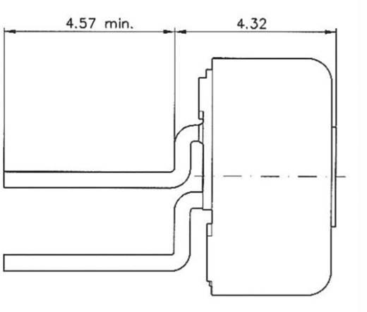 Cermet trimmer potméter, TT Electronics AB 460 2046105902 500 kΩ, felül állítható, 0,5 W ± 10 %