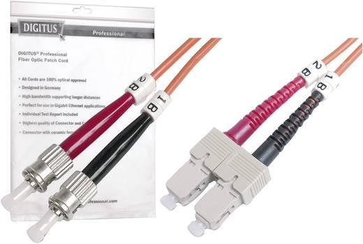 Üvegszál LWL csatlakozókábel 1x dugó - 1x 50/125µ 3m Multimode OM2 Digitus