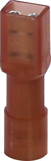 Lapos csúszósaru hüvely 6,3 x 0,8 mm, szigetelt, piros, 50 db, Phoenix Contact 3240538