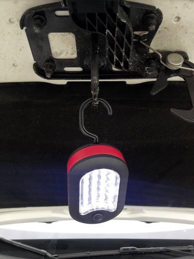 Mini LED-es elemlámpa, 24+3 LED, akasztóval, ProfiPower