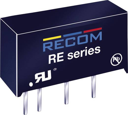 1 W-os DC/DC átalakító, RE sorozat, bemenet: 12 V/DC, kimenet: 5 V/DC 200 mA 1 W, Recom International RE-1205S