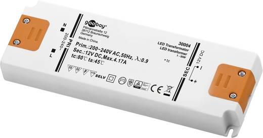 LED tápegység, állandó feszültségű, 50 W 12 V/DC 4100 mA, Goobay SET 12-50 LED 30004