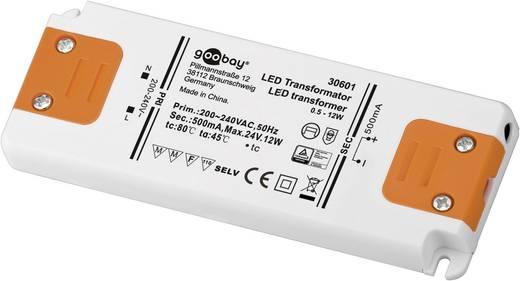 LED tápegység, állandó áramú, 12 W 0 - 24 V/DC 500 mA, Goobay SET CC 500-12 LED 30601