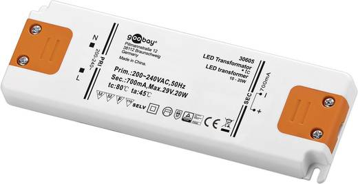LED meghajtó Állandó áramú Goobay SET CC 700-20 LED