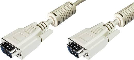 VGA TV, Monitor csatlakozókábel 1x VGA dugó - 1x VGA dugó 3 m Szürke Digitus