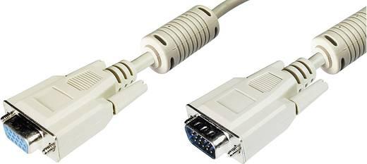 VGA TV, Monitor csatlakozókábel 1x VGA dugó - 1x VGA alj 5 m Szürke Digitus