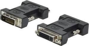DVI átalakító adapter, 1x DVI dugó 24+1 pól. - 1x DVI aljzat 24+5 pól., fekete, Digitus Digitus