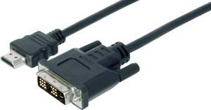 HDMI - DVI kábel [1x HDMI dugó - 1x DVI csatlakozó 18+1 pólusú] 2m fekete Digitus AK-330300-020-S (AK-330300-020-S) Digitus