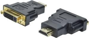 HDMI - DVI átalakító adapter, 1x HDMI dugó - 1x DVI dugó 24+5 pól., fekete, Digitus Digitus
