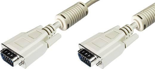 VGA TV, Monitor csatlakozókábel 1x VGA dugó - 1x VGA dugó 15 m Szürke Digitus