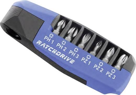 7részes PH/PZ csavarhúzó BIT készlet Witte Ratchdrive 25102