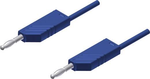 Mérőzsinór, mérővezeték 2db 4mm-es toldható banándugóval 2,5 mm² PVC, 25cm kék SKS Hirschmann MLN 25/2,5