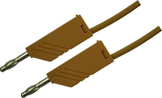 Mérőzsinór, mérővezeték 2db 4mm-es toldható banándugóval 2,5 mm² PVC, 50cm barna SKS Hirschmann MLN 50/2,5