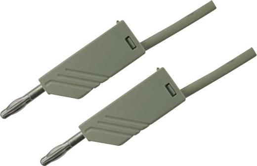Mérőzsinór, mérővezeték 2db 4mm-es toldható banándugóval 2,5 mm² PVC, 50cm szürke SKS Hirschmann MLN 50/2,5
