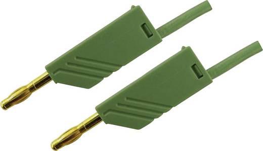 Mérőzsinór, mérővezeték 2db 4mm-es toldható banándugóval 2,5 mm² PVC, 50cm zöld SKS Hirschmann MLN 50/2,5 Au