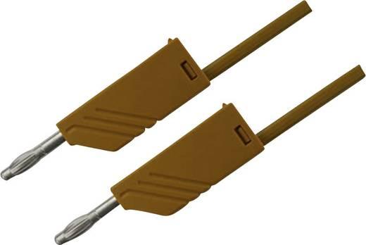 Mérőzsinór, mérővezeték 2db 4mm-es toldható banándugóval 2,5 mm² PVC, 1 m barna SKS Hirschmann MLN 100/2,5
