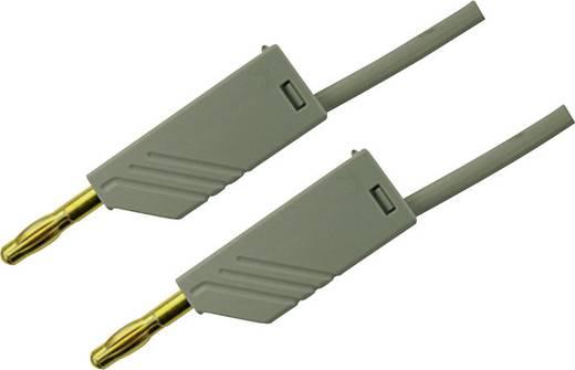 Mérőzsinór, mérővezeték 2db 4mm-es toldható banándugóval 2,5 mm² PVC, 1 m szürke SKS Hirschmann MLN 100/2,5 Au