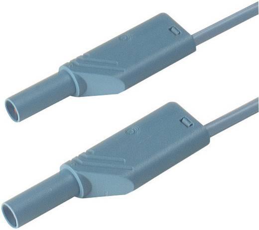 Mérőzsinór, szigetelt mérővezeték 2db 4mm-es toldható banándugóval 1 mm² PVC, 25cm kék SKS Hirschmann MLS WS 25/1