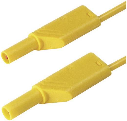 Mérőzsinór, szigetelt mérővezeték 2db 4mm-es toldható banándugóval 1 mm² PVC, 25cm sárga SKS Hirschmann MLS WS 25/1