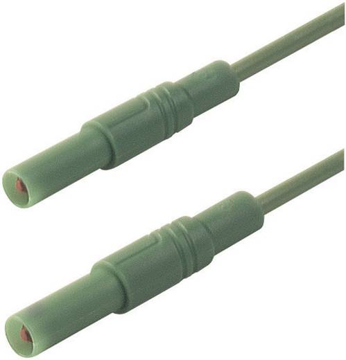 Mérőzsinór, szigetelt mérővezeték 2db 4mm-es toldható banándugóval 1 mm² PVC, 25cm zöld SKS Hirschmann MLS GG 25/1
