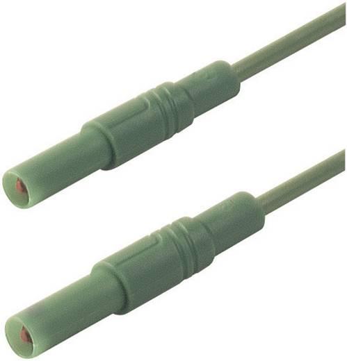 Mérőzsinór, szigetelt mérővezeték 2db 4mm-es toldható banándugóval 2,5 mm² PVC, 25cm zöld SKS Hirschmann MLS GG 25/2,5