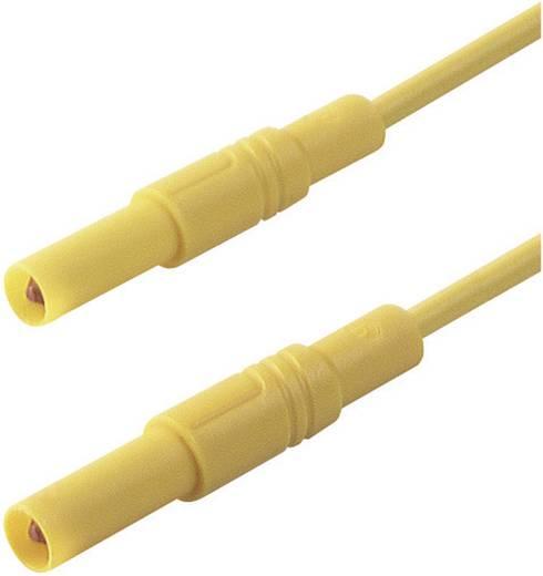 Mérőzsinór, szigetelt mérővezeték 2db 4mm-es toldható banándugóval 1 mm² PVC, 50cm sárga SKS Hirschmann MLS GG 50/1
