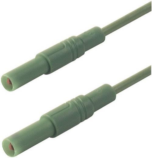 Mérőzsinór, szigetelt mérővezeték 2db 4mm-es toldható banándugóval 1 mm² PVC, 50cm zöld SKS Hirschmann MLS GG 50/1