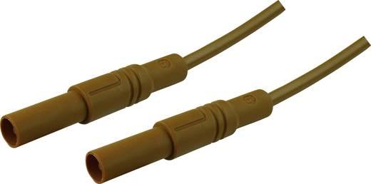Mérőzsinór, szigetelt mérővezeték 2db 4mm-es toldható banándugóval 2,5 mm² PVC, 1 m barna SKS Hirschmann MLS GG 100/2,5