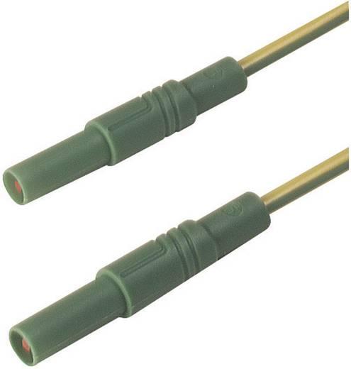 Mérőzsinór, szigetelt mérővezeték 2db 4mm-es toldható banándugóval 2,5 mm² PVC, 1 m sárga SKS Hirschmann MLS GG 100/2,5