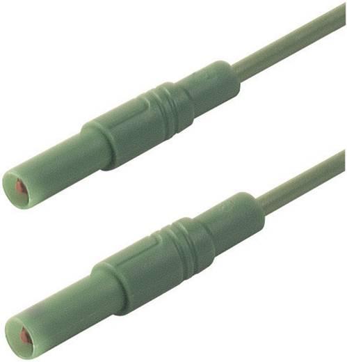 Mérőzsinór, szigetelt mérővezeték 2db 4mm-es toldható banándugóval 2,5 mm² PVC, 2 m zöld SKS Hirschmann MLS GG 200/2,5