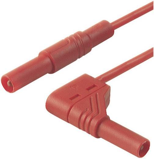 Mérőzsinór, szigetelt mérővezeték 2db 4mm-es banándugóval 1 mm² PVC, 25cm piros SKS Hirschmann MLS WG 25/1