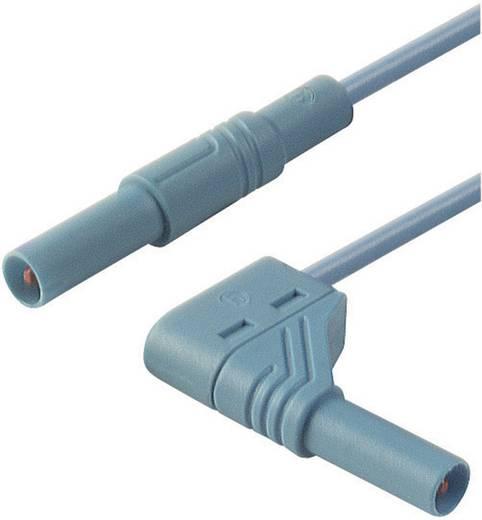 Mérőzsinór, szigetelt mérővezeték 2db 4mm-es banándugóval 1 mm² PVC, 1 m kék SKS Hirschmann MLS WG 100/1
