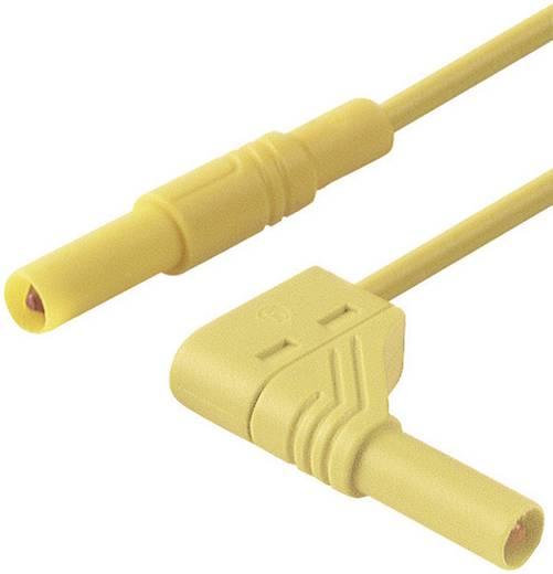Mérőzsinór, szigetelt mérővezeték 2db 4mm-es banándugóval 1 mm² PVC, 1 m sárga SKS Hirschmann MLS WG 100/1