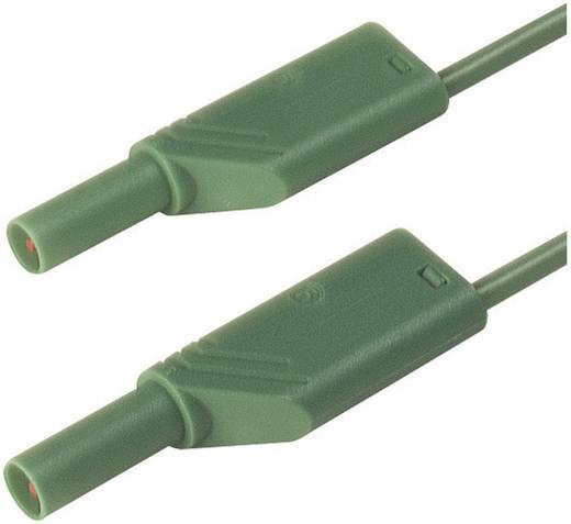 Mérőzsinór, szigetelt mérővezeték 2db 4mm-es toldható banándugóval 2,5 mm² PVC, 25cm zöld SKS Hirschmann MLS WS 25/2,5