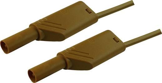Mérőzsinór, szigetelt mérővezeték 2db 4mm-es toldható banándugóval 2,5 mm² PVC, 50cm barna SKS Hirschmann MLS WS 50/2,5