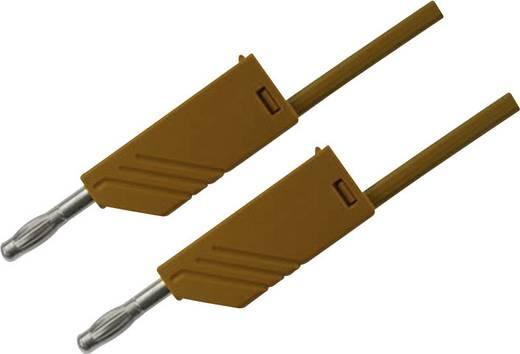 Mérőzsinór, mérővezeték 2db 4mm-es toldható banándugóval 2,5 mm² PVC, 1.5 m barna SKS Hirschmann MLN 150/2,5
