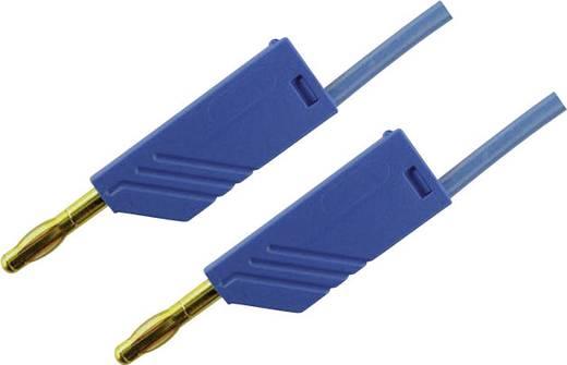 Mérőzsinór, mérővezeték 2db 4mm-es toldható banándugóval 2,5 mm² PVC, 1.5 m kék SKS Hirschmann MLN 150/2,5 Au