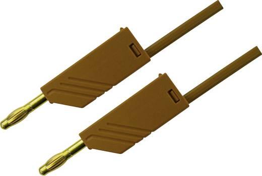 Mérőzsinór, mérővezeték 2db 4mm-es toldható banándugóval 2,5 mm² PVC, 1.5 m barna SKS Hirschmann MLN 150/2,5 Au