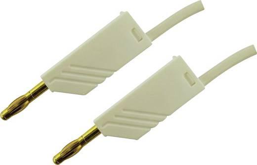 Mérőzsinór, mérővezeték 2db 4mm-es toldható banándugóval 2,5 mm² PVC, 1.5 m fehér SKS Hirschmann MLN 150/2,5 Au