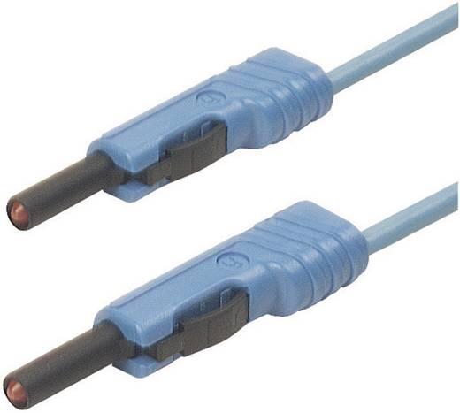 Mérőzsinór, mérővezeték 2db 4mm-es toldható banándugóval 1 mm² PVC, 25cm kék SKS Hirschmann MLB 25/1 V