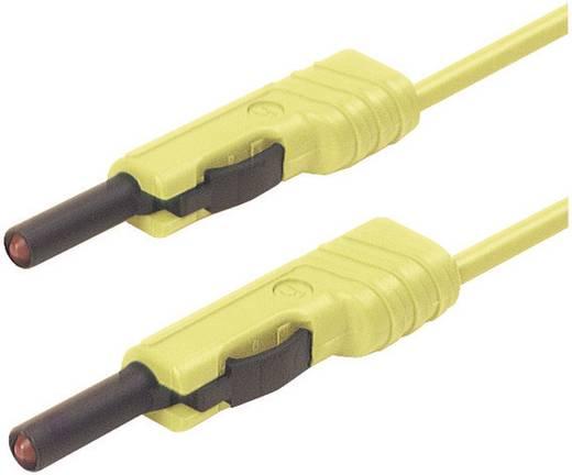 Mérőzsinór, mérővezeték 2db 4mm-es toldható banándugóval 1 mm² PVC, 25cm sárga SKS Hirschmann MLB 25/1 V